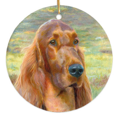 "Irish Setter ""Sporting Days"" Christmas Ornament"