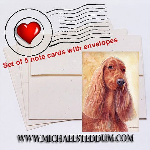 Irish Setter Watercolor II, Irish Setter Note Card Set