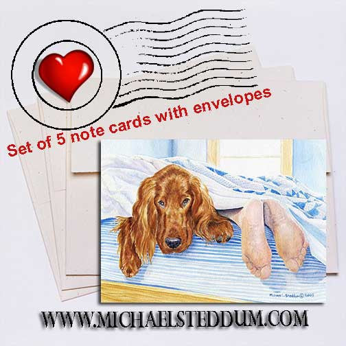 My Other Feet, Irish Setter Note Card Set