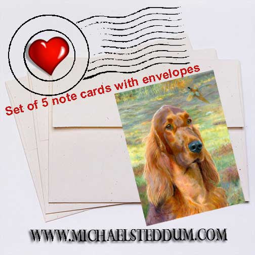 Sporting Days, Irish Setter Note Card Set