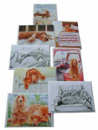 """Irish Setter 8 Pack Note Card Set"""