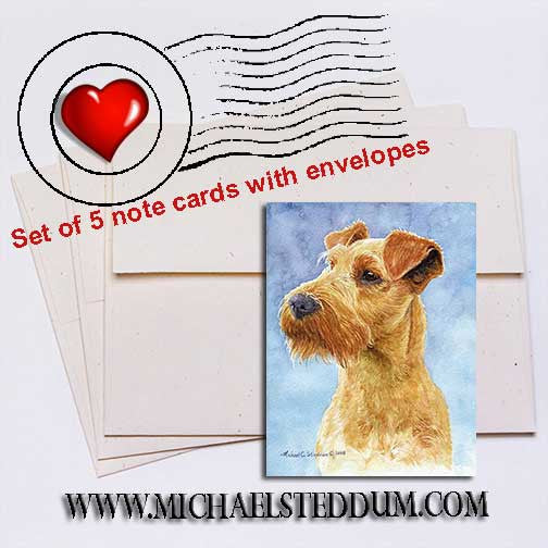 Irish Terrier Head Study IV Note Card Set
