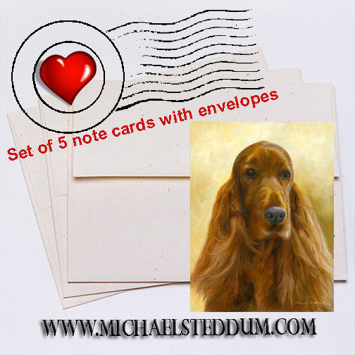 """Marvelous"" Irish Setter Note Card Set"
