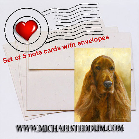 """Marvetous"" Irish Setter Note Card Set"