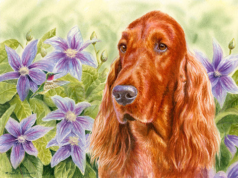 """Summer Garden"" Irish Setter Limited Edition Print"