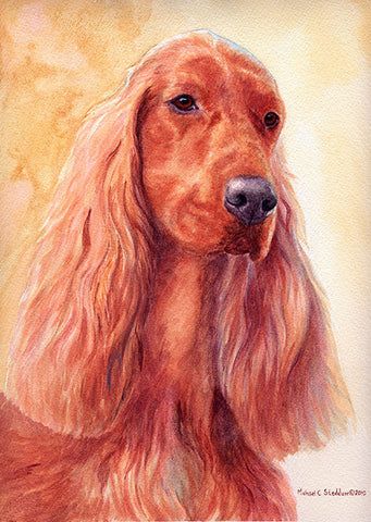 """Irish Setter Watercolor II"" A Limited Edition Irish Setter Print"