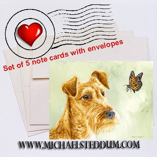 Flight Path, Irish Terrier Note Card Set