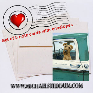 Road Trip, Irish Terrier Note Card Set