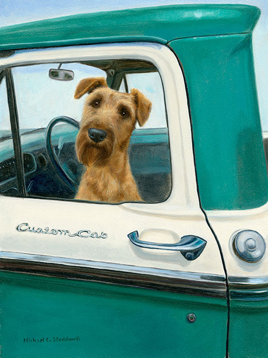 """Road Trip"" A Limited Edition Irish Terrier Print"