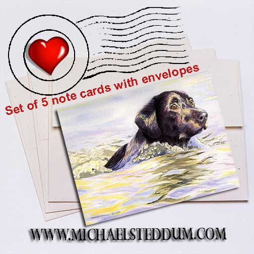 Water Dog Labrador Retriever Note Card Set