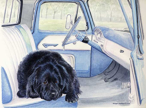 """I Call Shotgun"" A Limited Edition Newfoundland Print"