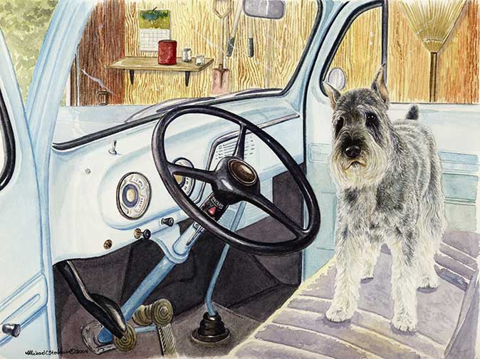 """Let's Go"" A Limited Edition Schnauzer Print"
