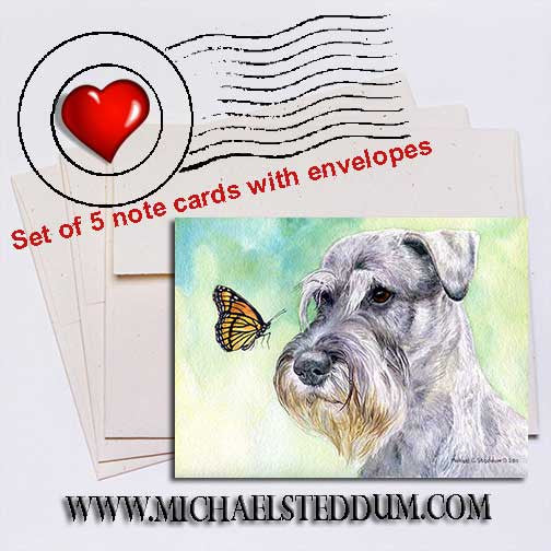 Schnauzer Discovery Note Card Set