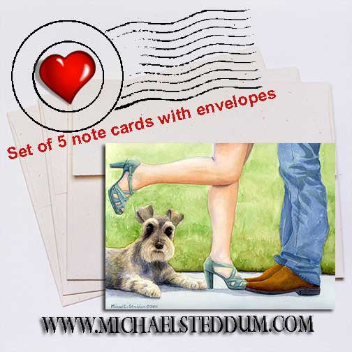 Learning to Share, Schnauzer Note Card Set