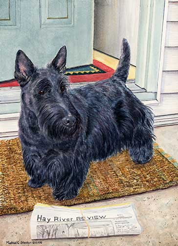 """Morning Chores"" A Limited Edition Scottish Terrier Print"