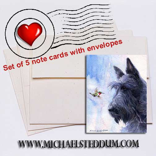 My Turf Scottish Terrier Note Card Set