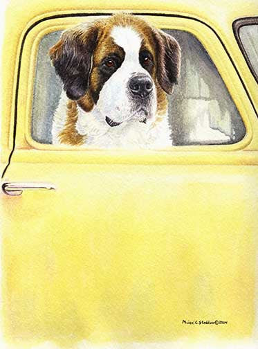 """Anticipation"" A Limited Edition Saint Bernard Print"