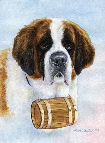 """Saint Bernard Head Study III"" A Limited Edition Print"