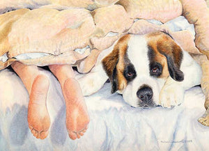 """Heads or Tails"" A Limited Edition Saint Bernard Print"