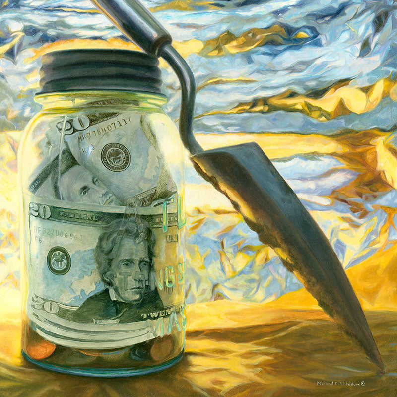 """Savings"" Original Oil Painting"