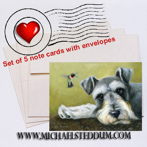 Schnauzer Territory Note Card Set