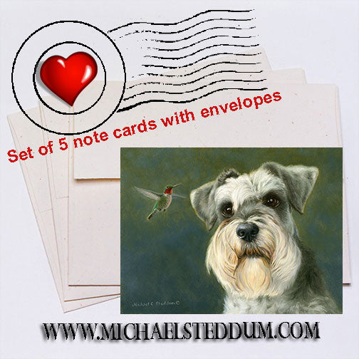 Schnauzer Visitor Note Card Set