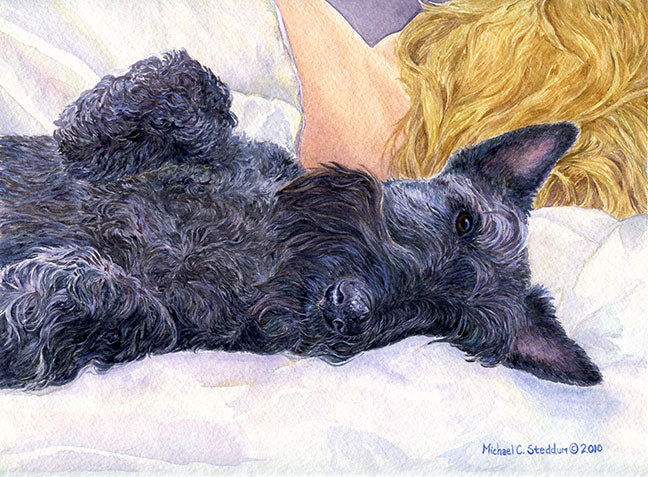 """Lucky Dog"" A Limited Edition Scottish Terrier Print"