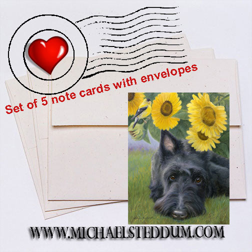 Bird Droppings, Scottish Terrier Note Card Set