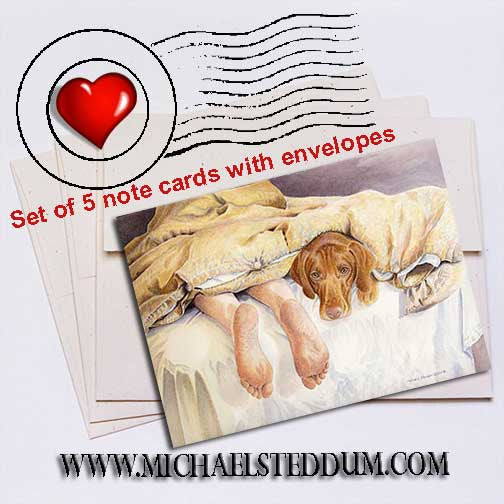 Vizsla Feet Note Card Set