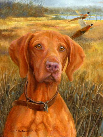 """A Good Season"" A Limited Edition Vizsla Print"