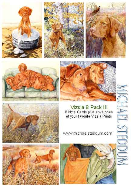 Vizsla 8 Pack III Note Card Set