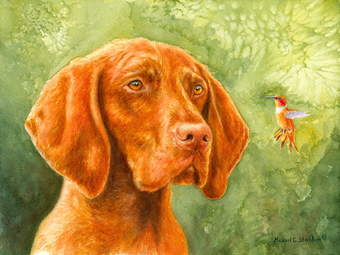"""Bird Dog"" Limited Edition Vizsla Print"