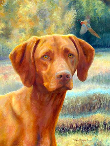 """Field Days"" A Limited Edition Vizsla Print"