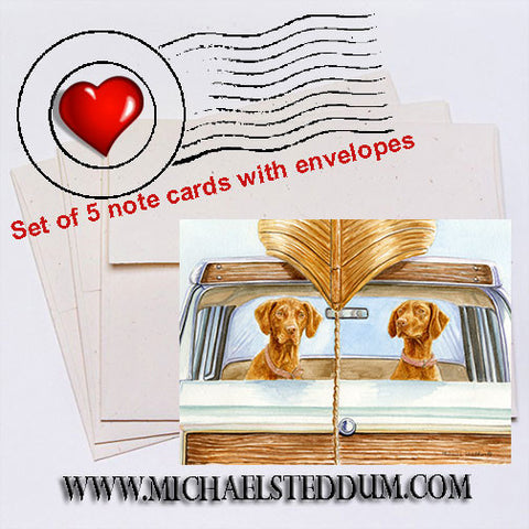 """Field Trip"" Vizsla Note Card Set"