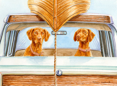 """Field Trip"" Limited Edition Vizsla Print"