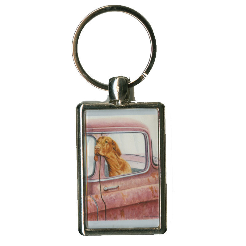 """Don't Forget the Milkbones"" Vizsla Key Chain"