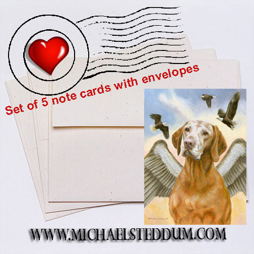 Soar with Eagles, Vizsla Note Card Set