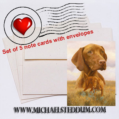 The Good Life, Vizsla Note Card Set