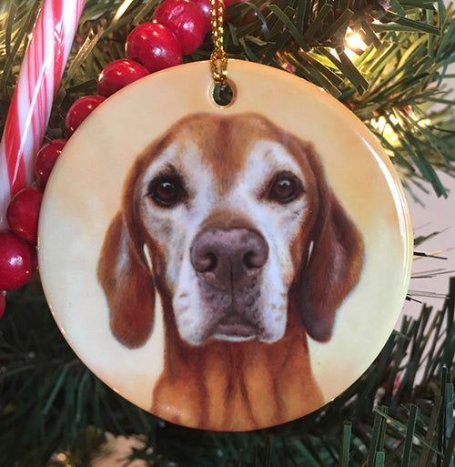 "Vizsla ""I Heart You 2"" Christmas Ornament"