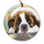 "Saint Bernard ""Tulips"" Ornament"