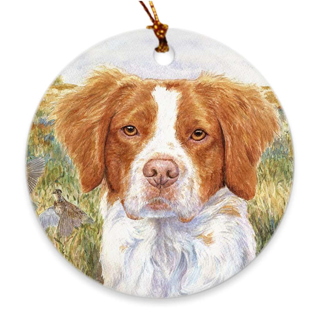 "Brittany ""Head Study IV"" Christmas Ornament"