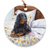 "Gordon Setter ""Bed Sitter"" Christmas Ornament"