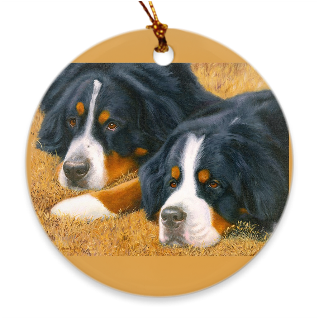 "Bernese Mountain Dog ""Observers"" Christmas Ornament"