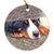 "Bernese Mountain Dog ""The Watchman"" Christmas Ornament"