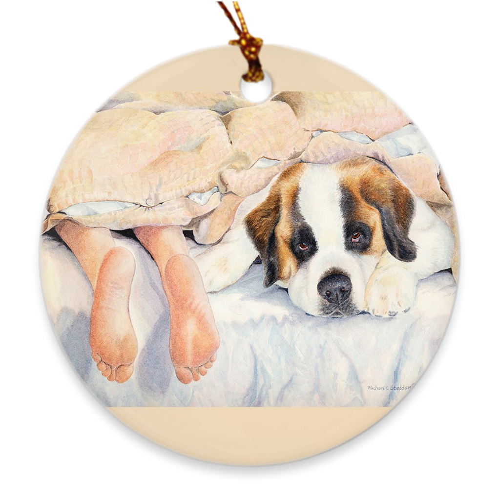 "Saint Bernard ""Heads or Tails"" Ornament"