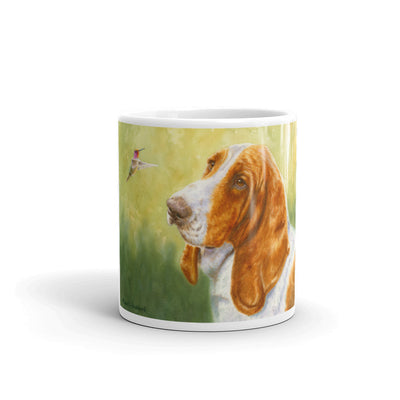 """Bird Dog"" Basset Hound 11oz Coffee Mug"
