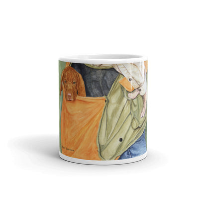 """In the Bag"" Vizsla 11oz Coffee Mug"