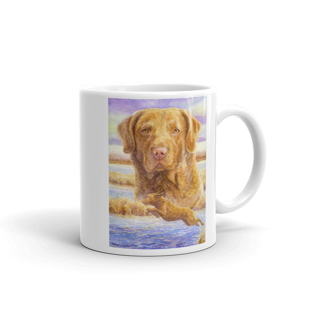 """Launch"" Chesapeake Bay Retriever 11oz Coffee Mug"