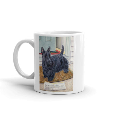 """Morning Chores"" Scottish Terrier 11oz Coffee Mug"
