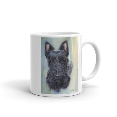 Scottish Terrier Head Study V Watercolor 11oz Coffee Mug